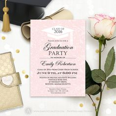 College Graduation Invitation Printable Printed High School