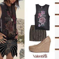 E facil ser fashion da uma olhadinha nesse look! #ValentinaFlats #shoes #fashion #loveit #loveshoes #shoeslover #anabela #specialshoes #love #nice #style