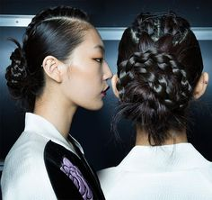 Spring 2015 Braided Hairstyles Inspired From the Runway: Bibhu Braids  #braids #braidedhairstyles #hairstyles