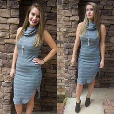 """It's sweater {dress} season! Get our """"A Winter's Tale Dress"""" for $37 on www.AthenaAttire.com!"""