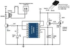 Electronic remote controller circuit.