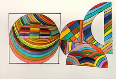 For the Love of Art: Frank Stella protractor series- art project for kids