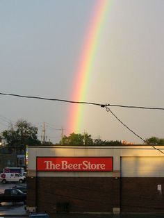 """End of the rainbow is a """"beer store""""--- Don't really think so! Beer Store, Liquor Store, Perfectly Timed Photos, In Vino Veritas, Funny Signs, Just For Laughs, That Way, Laugh Out Loud, The Funny"""