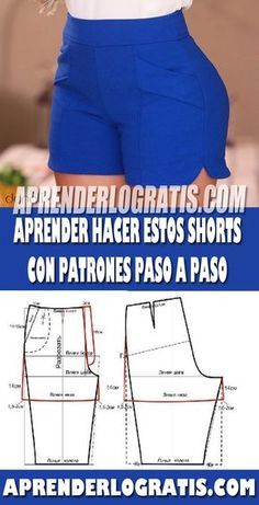 Sewing Shorts, Sewing Clothes, Skirt Patterns Sewing, Clothing Patterns, Como Fazer Short, Frocks For Girls, Old T Shirts, Pants Pattern, Sewing For Beginners