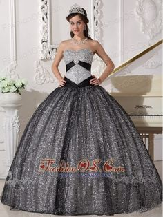 Buy shimmery black ball gown sequined quinceanera gown sweetheart from fashionable quinceanera dresses collection, sweetheart neckline ball gowns in black- color,cheap floor length tulle-sequined- dress with lace up back and for sweet Sweet Sixteen Dresses, Sweet 15 Dresses, Black Quinceanera Dresses, Pageant Dresses, Dresses 2013, Dresser, Cheap Gowns, Spring, Quince Dresses