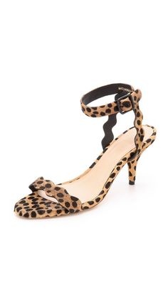 Loeffler Randall Reina Haircalf Mid Heel Sandals