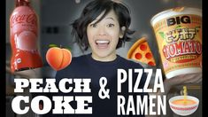 PEACH COKE & PIZZA POTATO TOMATO Instant Cup Ramen JAPANESE Snacks Taste...