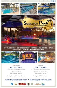 Superior Pools of Southwest Florida Superior Pools Awarded Top 50 Contractor