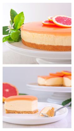 A stunningly sophisticated dessert that's neither too rich nor too sweet, thanks to the zesty citrus of the ruby grapefruit and refreshing hit of gin! Fun Baking Recipes, Best Dessert Recipes, Sweet Recipes, Cookie Recipes, Winter Desserts, Christmas Desserts, Fun Desserts, Gin Cheesecake, Sweet Treats
