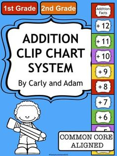INCREASE ADDITION FACT FLUENCY! This is an excellent classroom tool for increasing addition fact fluency. Students love tracking their own math skills and are so excited to move their clothespin marker when they pass each level. As an added incentive, I included certificates for each level to print off and present to students as they learn.
