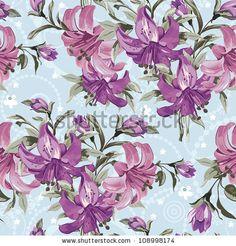 Seamless Vector Floral Pattern Set - 109170839 : Shutterstock