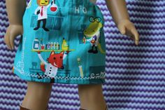 American Girl Doll Science Animals Skirt on Etsy, $3.00