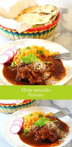 Como hacer Mole sencillo │Esta receta te permite añadir lentamente los otros ingredientes que forman parte de la receta tradicional de Mole Poblano, una de las cosas por las cuales muchas personas se preocupan al hacer esta comida, es respecto a la cantidad de tiempo invertido al momento de cocinar (y para limpiar después). #comidamexicana #saboresdemexico #mole #recetamexicana #cocinamexicana #mexicoenmicocina Beef, Food, Gastronomia, Mole Sauce, Mole Recipe, Mexican Food Recipes, Mexican Recipes, Dessert Food, Cook