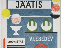 Ice-Cream by S. Marshak, avant-garde illustrations by V. Lebedev - Estonian version