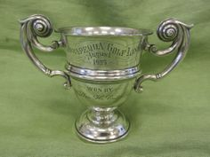Antique Dominick & Haff Sterling Silver El Lembke Hotel GOLF trophy loving cup
