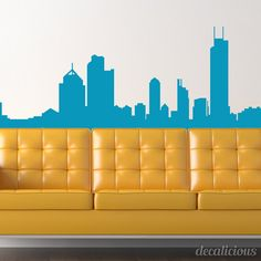 What a cool decal! Not only will this Chicago Skyline decal look great on any wall of your home but it also looks great on your car window. This