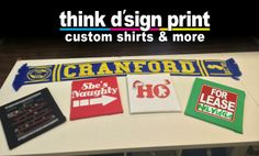 Cranford Spirit Scarves, Holiday tees and more from Think D'sign Print