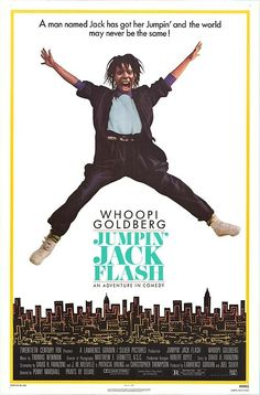Jumpin' Jack Flash starring Whoopi Goldberg, Stephen Collins, Jonathan Pryce, and John Wood; directed by Penny Marshall Films Étrangers, Comedy Movies, Old Movies, Great Movies, Awesome Movies, Vintage Movies, Love Movie, Movie Tv, Penny Marshall