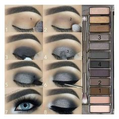 maquillage smoky eyes fete yeux bleus fards gris argent makeup augen hochzeit ideas tips makeup Grey Smokey Eye, Smoky Eyes, Smoky Eye Makeup, Eye Makeup Steps, How To Smokey Eye, Makeup Eyeshadow, Blue Eyeshadow, Smokey Eye Steps, How To Do Eyeshadow