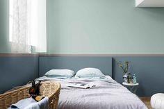Utiliza un verde marino con un azul, el resultado te encantará. Toma el rosa suave de Palo de Rosa, el Color del Año 2018 de Bruguer, y combínalo con una amplia gama de azules y verdes versátiles e inspirados en la naturaleza que se adaptan a cualquier habitación, a cualquier ocasión y a cualquier edad.