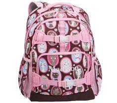 Mackenzie Chocolate Kitty Backpacks | Pottery Barn Kids