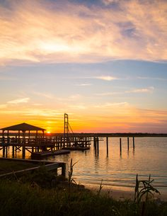 Sunset on the dock at Wrightsville Beach. Beautiful Landscape Wallpaper, Beautiful Landscapes, Wrightsville Beach, Beach Images, Tree Forest, Pretty Wallpapers, Long Exposure, Beach Trip, Forests