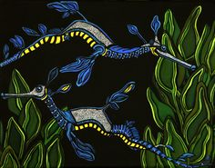 """Sea Dragons"" by Heather Moyer  www.hmartisticcreations.com"