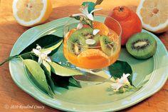 Tangelo and Kiwi Salad with Orange Blossoms (Rosalind Creasy's recipe)