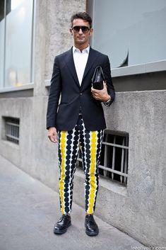 navy-yellow-dot-pants-mens-fashion