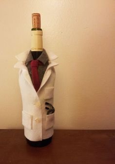 Wine Bottle Sleeve for Medical School by SincerelyEunice on Etsy