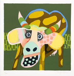Leif Sylvester: Spotted Cow Eating Food (2013)