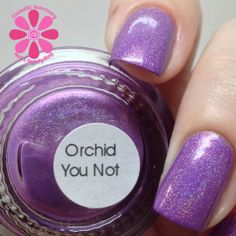 different DIMENSION Orchid You Not - 7 Nail Polish Sale, Swatch, Holographic Nails, Spring 2014, Different, Creme, Orchids, Health And Beauty, How To Apply