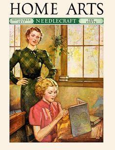 Home Arts Needlecraft Magazine, September 1937 - teacher