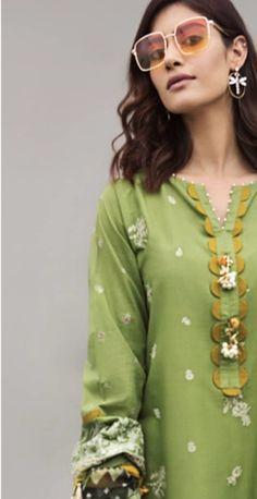 Chudi Neck Designs, Neck Designs For Suits, Neckline Designs, Dress Neck Designs, Pakistani Casual Wear, Simple Pakistani Dresses, Pakistani Dress Design, Pakistani Suits, Stylish Dress Book