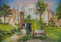 Anni Moller Prints & Original Paintings - Alabama Montage with Elephant  Original Painting Available, email for more info rick@thegallery.us