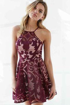 Keepsake Romantic Rebel Burnout Lace Skater Dress--32295453; Color Code: 061