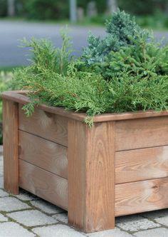 Anttila - Kukkalaatikko nelikulma puuta | Kukkaruukut ja kukkalaatikot