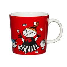 Moomin mug by Arabia/ Little My/ red/ Muumi muki, Pikku Myy, punainen Little My Moomin, Moomin Shop, Moomin Mugs, My Coffee, Coffee Mugs, Tove Jansson, Red Mug, Ceramic Tableware, Ceramic Mugs