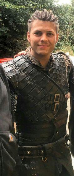 Alex Hoegh Andersen on the set of Vikings