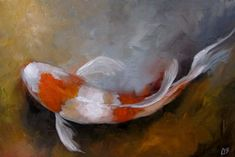Hey, I found this really awesome Etsy listing at https://www.etsy.com/listing/269972009/oil-painting-of-koi-fish-original-daily