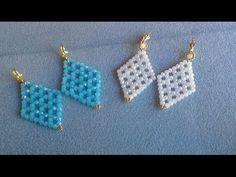 PENDIENTES AZUL Y BLANCO JADE-EARRINGS BLUE AND WHITE JADE - YouTube