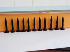Fine thread drywall screws are best for installing drywall to metal studs. Fine threads work well with metal because they are self-threading. Roofing Nails, Steel Doors And Windows, Drywall Screws, Threading, Fasteners, Radiators, Blinds, Studs