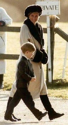 Princess Diana and Prince Harry.  So cute!