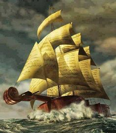 Vladimir Kush-I've sailed on this ship many a time. I wonder what her name is?
