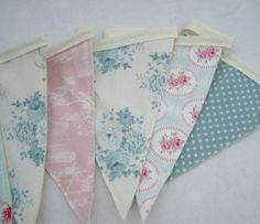 Handmade Bunting using Tilda Country Escape fabrics perfect for any home