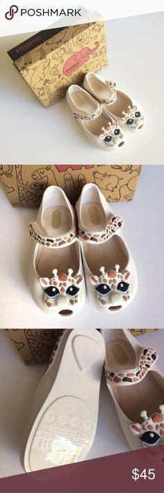 Host PickMini Melissa Giraffe Shoes Adorable New Mini Melissa Giraffe shoes. Run small. Mini Melissa Shoes Dress Shoes