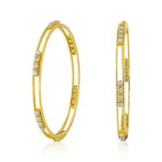 5753ade0e Diamond Solitaire bangles 3.35ct. in 18kt. gold-M2651 Gold Bangle Bracelet,