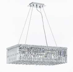 "CJD-CK-CS/2189/24 Gallery Modern & Contemporary French Empire Crystal Chandelier Lighting W.12"" H.7.5"" L.24"""