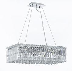 "CJD-CK-CS/2189/24 Gallery Modern & Contemporary French Empire Crystal Chandelier Lighting W.12"" H.7.5"" L.24"""