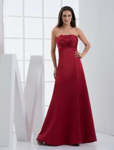 Burgundy Satin Notch Neck A-line Floor Length Bridesmaid Dress. Get surprising discounts up to 70% Off at Milanoo using Coupon & Promo Codes.
